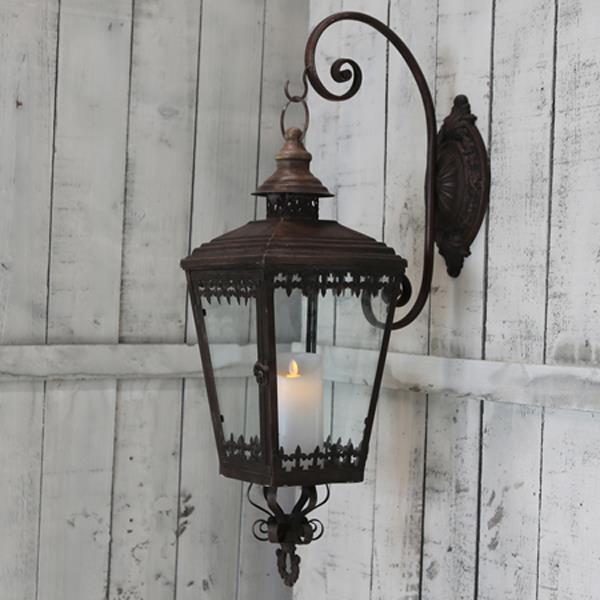 Forskjellige Se her - Vakker og romantisk vegghengt lykt i antikk rust med pene SX-18