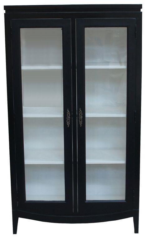 Fersk Se her - landlig svart vitrineskap med glassdører i klassisk OQ-55